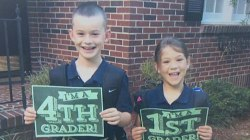 Say cheese! See cute kids pose for back-to-school pics