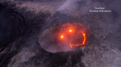 Lav-ha! Smiley Face Appears in Erupting Volcano