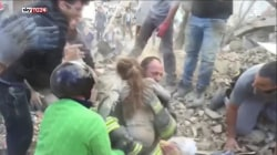 Watch Dramatic Video as 10-Year-Old is Rescued from Quake Rubble