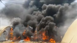 Fire Blazes in Iraqi Refugee Camp