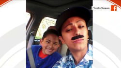 Single mom dons a 'disguise' to take son to 'Donuts with Dad' school event