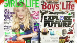 Amy Schumer and internet shame Girls' Life and Boys' Life magazine covers