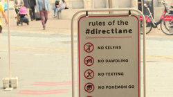 New subway fast lane prohibits selfies, texting, Pokemon Go