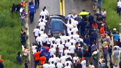 Marlins Escort Hearse Carrying Pitcher Jose Fernandez