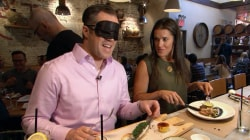 Peter Alexander takes How Eye See It blindfold challenge to support sister