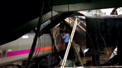 New Jersey Transit train crashes in Hoboken station