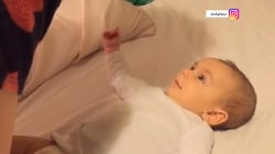 Did this 3-month-old baby just say 'I love you' to his mom?