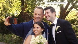 Watch Tom Hanks surprise two newlyweds in Central Park
