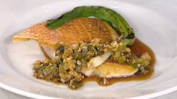 Snapper with scallion vinaigrette: Make it tonight!