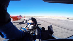 Caught on camera: See pilot's heart-stopping brush with death