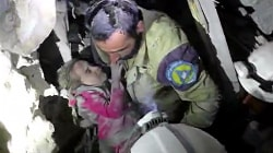 Young Girl Saved From Rubble of Aleppo Building