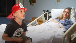6-year-old boy saves pregnant mom after fall