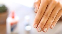 Get glittery party nails in an instant