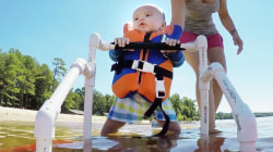 Fearless 6-month-old is a water skiing star
