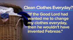 Wash…or wear again? Anchors debate whether you need 'clean' clothes every day
