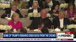 Tension between Clinton & Trump at NYC gala