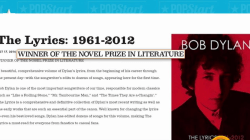 Bob Dylan's website takes down acknowledgment that he is a Nobel Prize winner