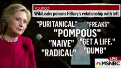 Politico: WikiLeaks emails hurting Clinton with liberals