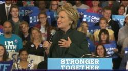 Clinton Campaigns in Ohio Where Polls Show Her and Trump in Virtual Tie