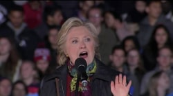 With Steady Lead in Polls, Clinton Pushes for Democratic Control of Senate