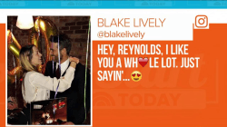 Ryan Reynolds, Blake Lively celebrate his 40th birthday, gush on social media