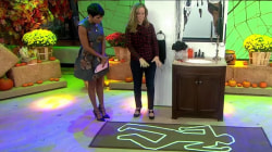 Crime-scene rug and other simple (but spooky!) Halloween decorations