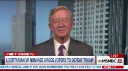 Libertarian VP nominee urges people to defeat Trump