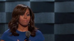 Clinton campaigns with Michelle for the first time