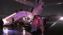 Pence plane skids off LGA runway