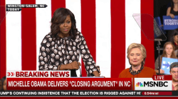 Michelle Obama hits the trail with Clinton