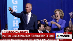 Report: Biden tops Clinton Secy. of State shortlist