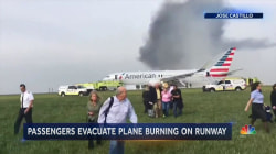 American Airlines Plane Catches Fire on Chicago Airport Runway