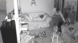 Camera Captures Burglars Sneaking Past Sleeping Kids