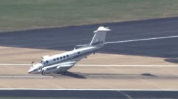 Caught On Camera: Plane Makes Emergency Landing