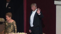 Clinton, Trump Arrive at Al Smith Dinner