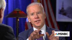 Biden on locker room talk: It's 'unacceptable behavior'