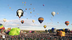 Watch Majestic First Day of New Mexico Balloon Fest