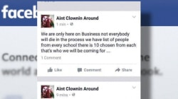 Clowns Send Threatening Messages to School