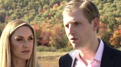 On the Trail, Eric Trump Says Father Pays His Taxes