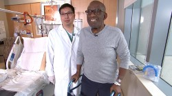 Watch Al Roker take his first steps after knee replacement surgery