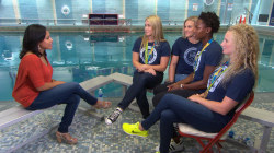 Sheinelle Jones takes the plunge with US women's water polo team