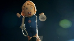 Hillary Clinton Doll With Noose Held Aloft at Trump Rally
