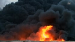 Raging Oil Fire Started By ISIS Continues to Burn