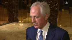 Corker on Secy. of State Prospect: 'I'm Here' But It's Trump's Decision
