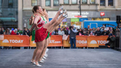 See iconic Rockettes performance of 'Happy Holidays' on the plaza