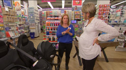 Dylan Dreyer shops for the essential items she needs for her baby