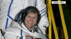 Peggy Whitson, oldest woman to fly into space, docks with ISS