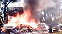 Huge Garbage Truck Fire Forces Neighborhood Evacuation