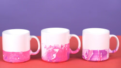 Marble mugs: The easiest holiday gift your kids can make