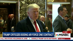 Trump takes on Boeing sending its stock price on a ride